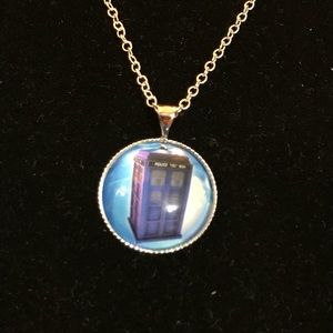 Jewelry - Handmade Glass Doctor Who Charm Necklace
